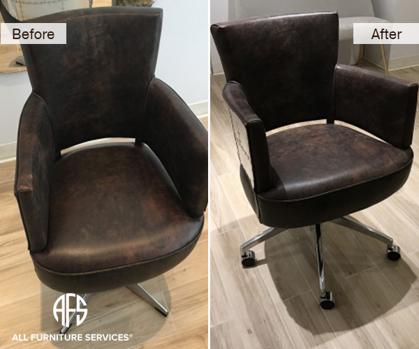 Chair Metal Replacing Base Mechanism Adding Casters Changing Design