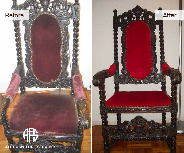 Antique Chair Reupholstery - All Furniture Services® Furniture Repair & Restoration Services