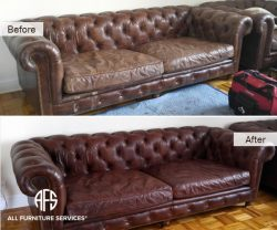 Complete leather tufted sofa couch chest...