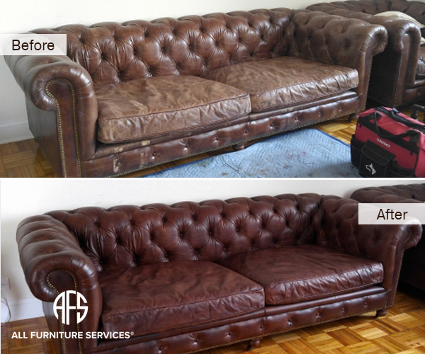 Complete Leather Tufted Sofa Couch Chest