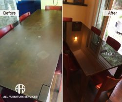 Dining Metal Table Refinishing and Glass...