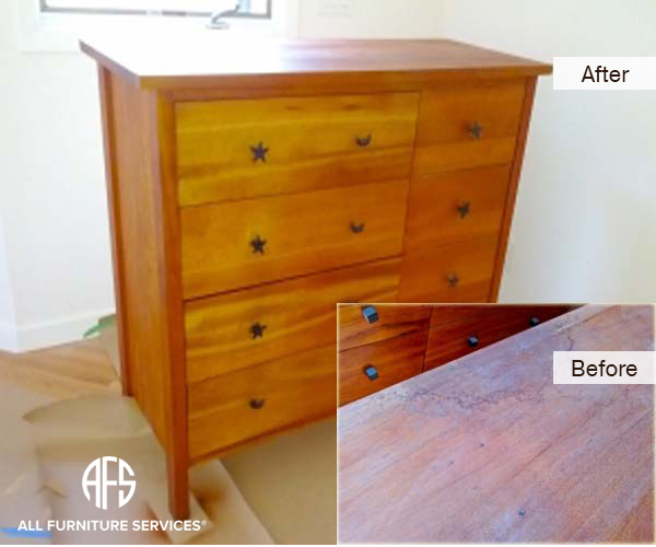 Dresser Chest Top Refinishing