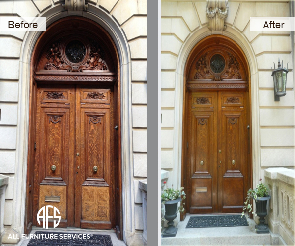 Entance door finishing & Gallery Before After Pictures | All Furniture Services® - Part 24