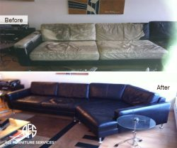 Leather Sectional Color Restoration Chan...