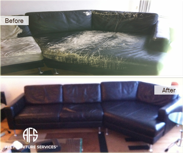 Leather Sofa Repair Rochdale: Leather Sofa Dyeing Service Navy Blue Leather Furniture