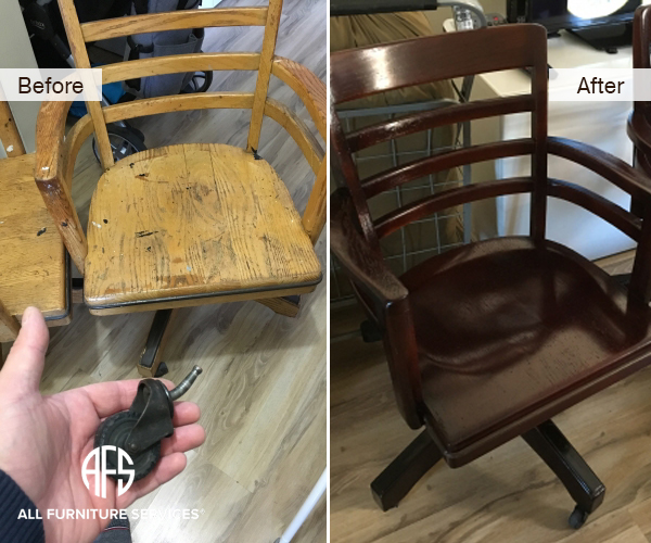 Office Side Chair Leg Casters Frame And Finish Repair And Color Change