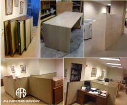 Office partition cubicle disassembly com...