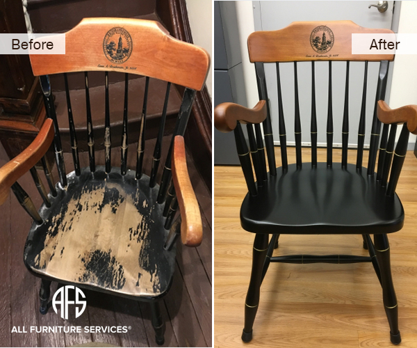Rebuilding antique chair springs straps . - All Furniture Services® Furniture Repair & Restoration Services