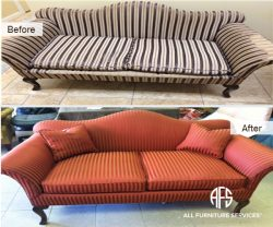 Settee Loveseat Sofa Antique Fabric Chan.