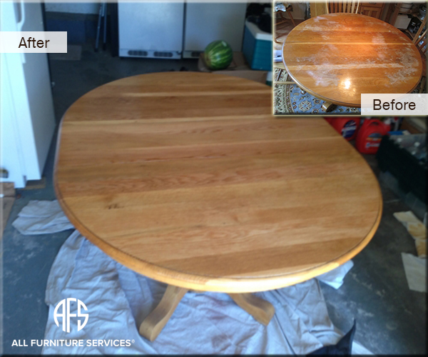Table Top Restoration Heat Water Mark Removal Finish
