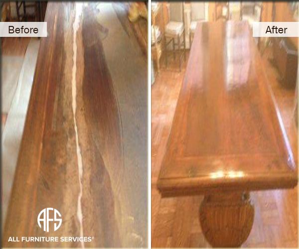 Table Top Wood Cracked Warped Shrank Repair Fill Refinish