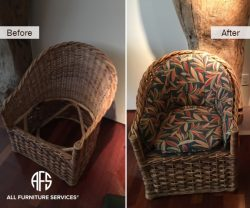 Wicker Chair Upholstery Seat Back Cushio...