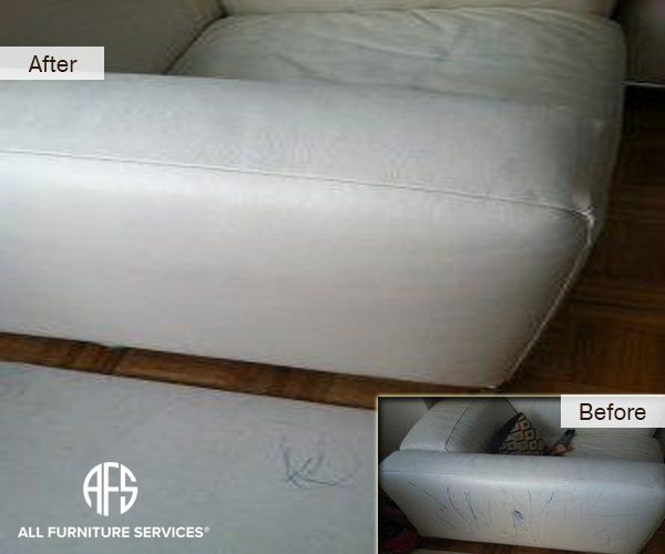 how to clean pen off leather sofa