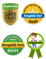 All Furniture Services® Repair & Restoration has won the Angie's List's Super Service Award in the category: Furniture – Refinishing & Repair  (01-03-2013)