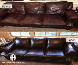 Leather Sofa Cushion pillows adding padding cleaning color matching dyeing enhancing improving