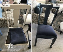 dining chair repainting colro change finish reupholstery fabric change padding straps seat support
