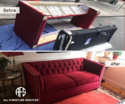 nailhead tufted chesterfield sofa loveseat couch sleeper bed mechanism disassembly break down take apart moving fit elevator