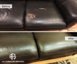 leather color peeling flaking discolored came off damaged by nail polish wear and tear repair color match dye dyeing painting finish
