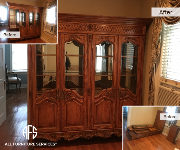 Gallery before after pictures all furniture services for Chinese furniture restoration