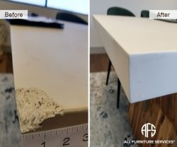 Stone marble granite concrete top crack chip corner damage repair fill shape