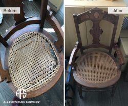 Cane replacing caning re-cane chair furniture seat back canning furniture