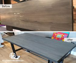 Desk Table Furniture Color change painting refinishing