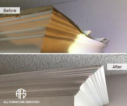 Furniture Armoire Dresser Wood Molding Crack Chip Broken Piece Repair Restoration Fabrication Finishing Painting