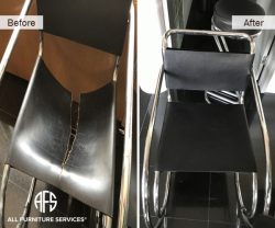 Eames Knoll Vassily Leather Seat Back chair repair replacing straps upholstery improve restore fix