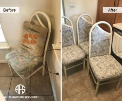 chair cushions seat and back re-upholstery padding replacement dining set improvement