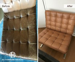 tufted strap eames knoll vassilly chair seat back repair leather replacement upholstery color change worn peeling scratched damaged