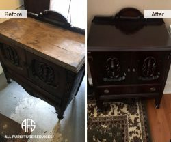 furniture cabinet color change stain repair wood refinishing stain lacquer antique restoration