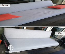 Bench outdoor furniture sofa couch upholstery padding seat cushion foam replacement adding padding