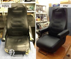 Car boat plane auto furniture seat chair re-upholstery vinyl leather crack damage repair material change