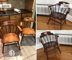 Chair Spindle Furniture Refinishing Color Change Restoration