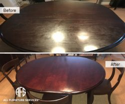 Dining table leaves refinishing top protecting clear coat stain lacquer
