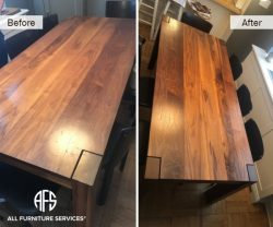 Wooden Table Teak Hardwood Finish Stain Refinishing Furniture Top
