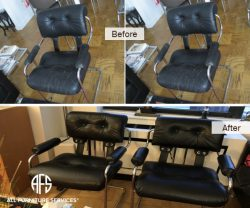 Leather Chair re-upholstery change dye furniture
