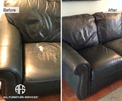 Furniture Leather Cushion worn animal damaged upholstery repair change seat part cut and sewn made top leather replacement