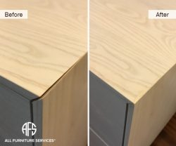Furniture Wood Cabinet warped wood panel repair fill glue straighten reinforce