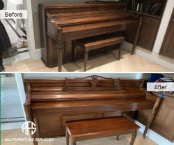 Piano Repair Case Good Restoration Touch Up wood Finish Refinishing touch-up