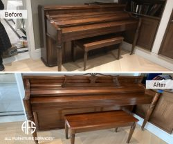 Piano and Bench restoration touch up re-finishing