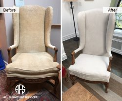 Wing Back Chair Fabric Re-upholstery furniture padding