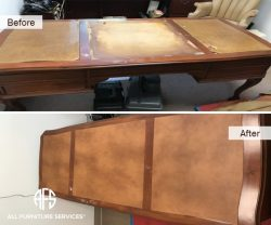 Desk Table Leather Top replacement repair Dyeing change