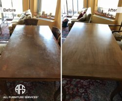 dining table top refinishing restoring