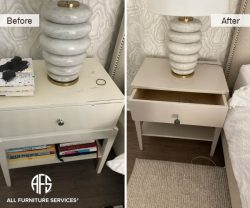 hotel hospitality nightstand end table refinishing touch up repair