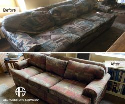 Furniture Sofa couch reupholstery fabric material change cushions padding replace