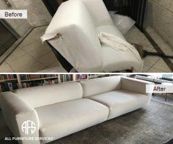 sectional furniture couch sofa take apart customizing refurbishing disassembling tight narrow entrance broken cut