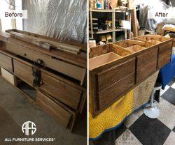 Drawer base cabinet bed tracks glides frame assembly instalaltion repair restoration refurbish