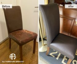 Leather Vinyl Chair Reupholstery cracked torn damaged change to new