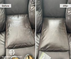 Chair Sofa Loveseat Recliner Peeling Cracking Vinyl Leather Material Repair re-upholstery change color match dye replace